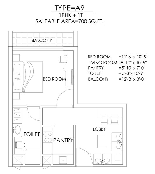 Tapasya 70 Grand Walkfloor plan
