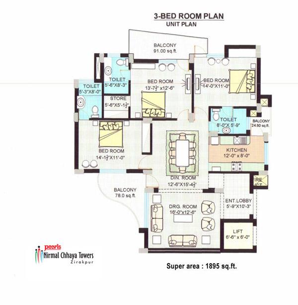 Pearls Nirmal Chhaya Towersfloor plan