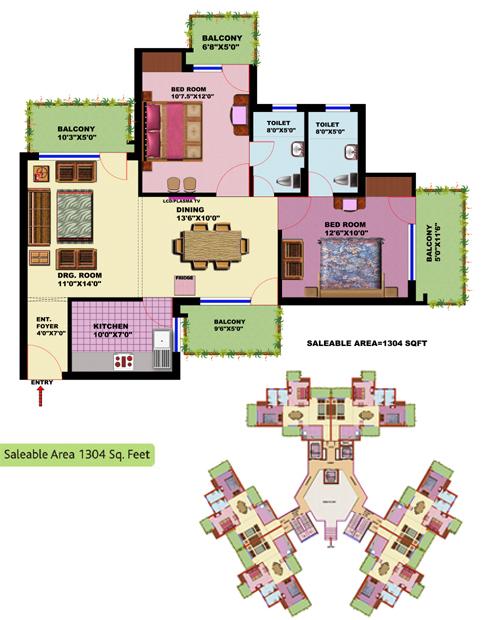 SRS Residencyfloor plan