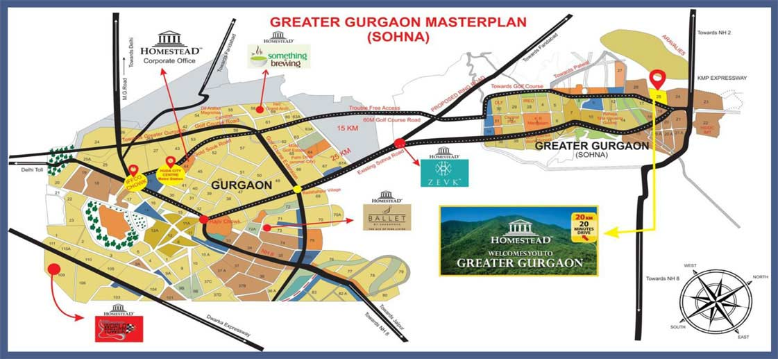 The City Of Homestead By Homestead Sohna Greater Gurgaon