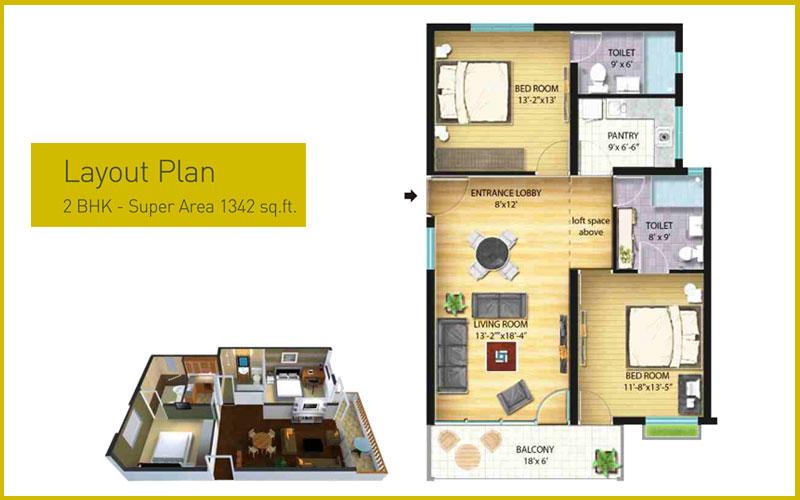 Aamoksh Retirement Homes Kasaulifloor plan
