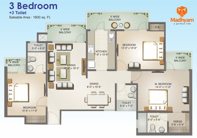 Aims Golf Avenue 2floor plan