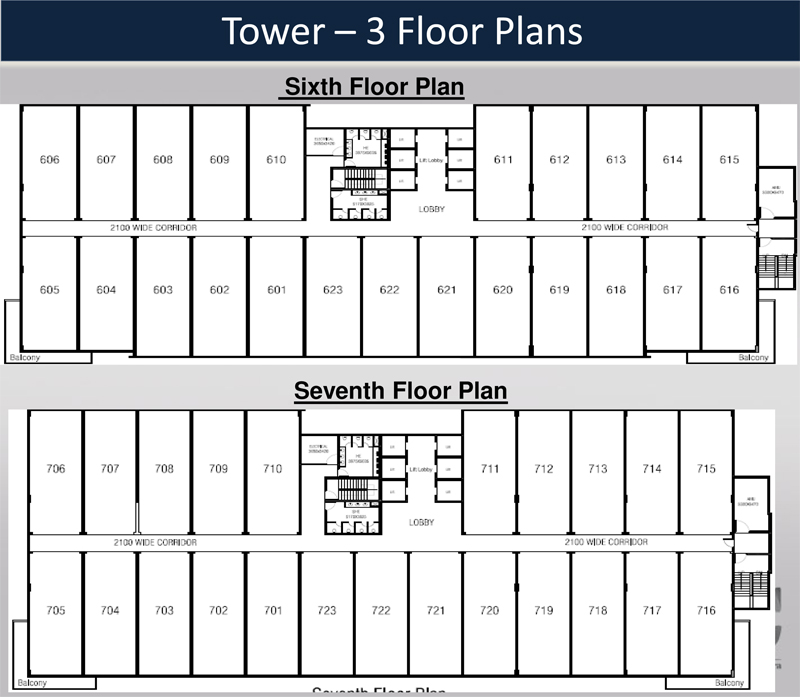 Assotech Business Cresterrafloor plan