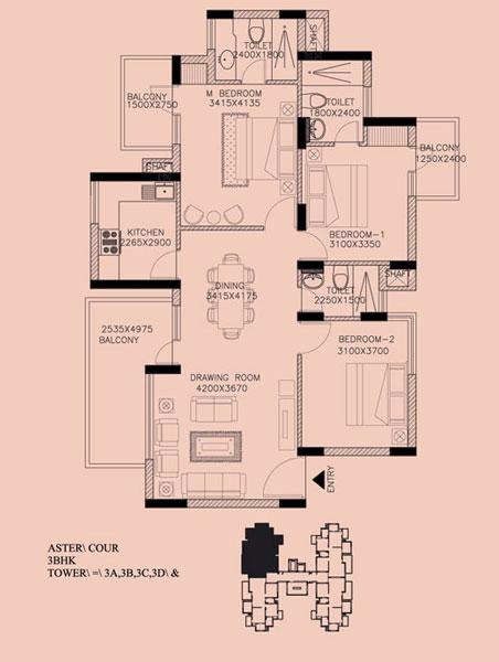 Aster Courtfloor plan