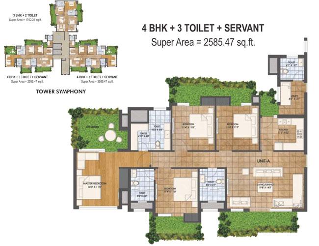 Agrante Beethoven 8 Gurgaonfloor plan