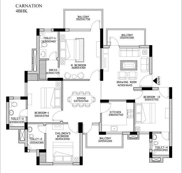 Carnation Residencyfloor plan