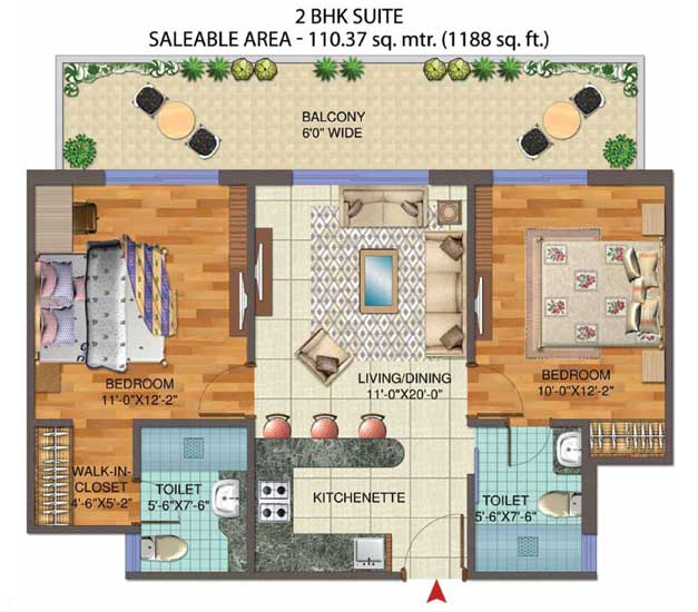 Central Park 3 The Roomfloor plan