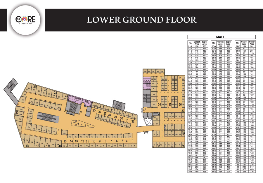 Concept Capital The Corefloor plan