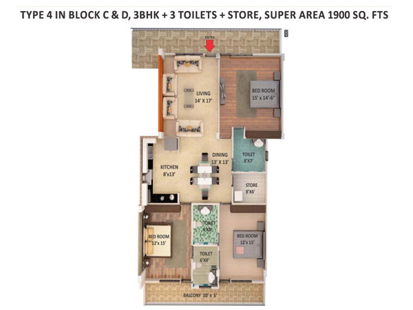 Dev Bhoomi Apartmentsfloor plan