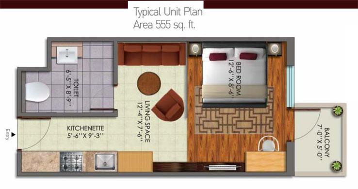 Supertech Doon Squarefloor plan