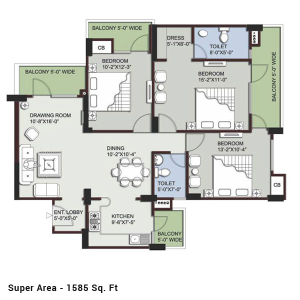 Supertech Eco Village 3floor plan