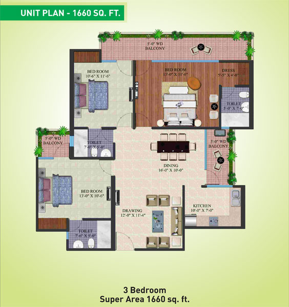 Supertech Eco Village 4floor plan
