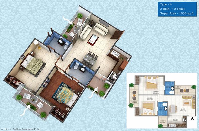 Ekdant Palace Meerutfloor plan