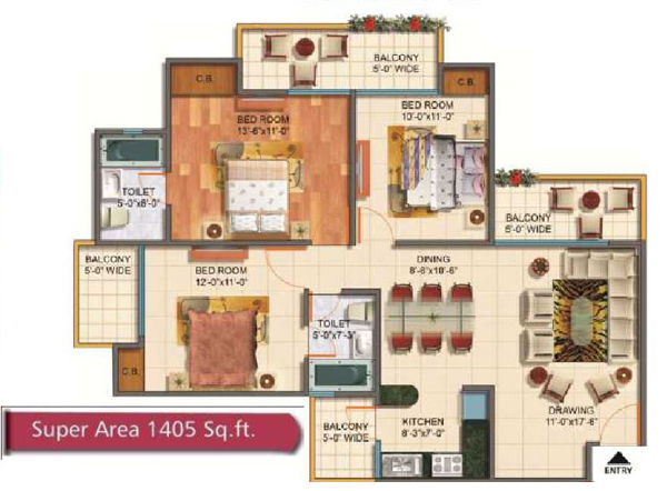 Rudra Palace Heightsfloor plan