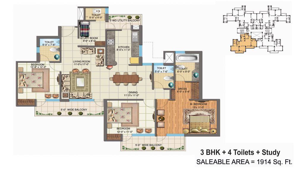 The Golden Palmsfloor plan
