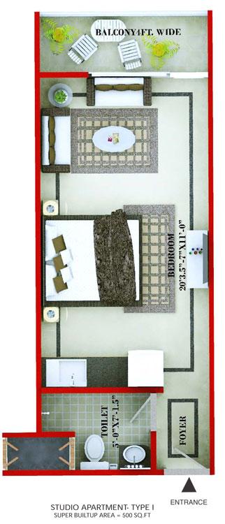 The Forest Residency Studiofloor plan