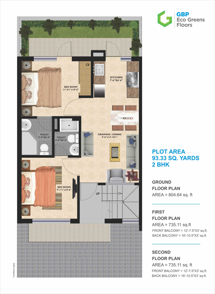 GBP Eco Greens Floorsfloor plan