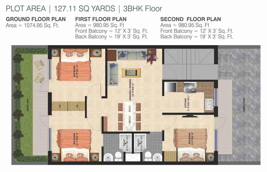 GBP Rosewood Estatesfloor plan
