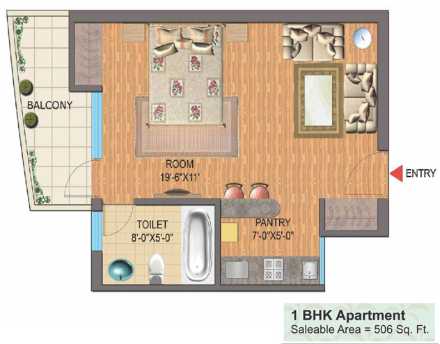 Studio Apartment In Noida nimbus golden palms sector 168 noida - 9811194645