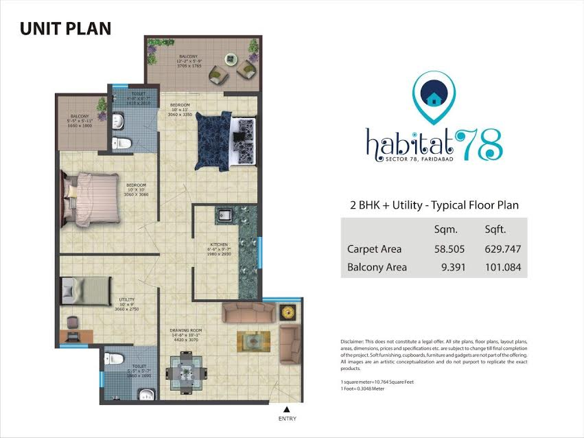 Conscient Habitat 78 Sector 78 Faridabad