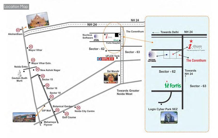 ithum Noida, iThum Sector 62 Noida, ithum Regus Noida