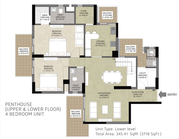 Satya Luxury Residencesfloor plan