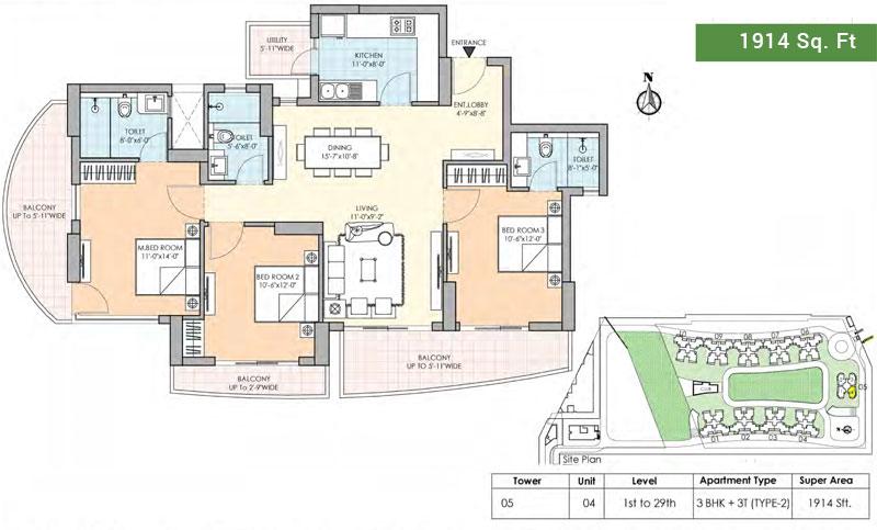 M3M Marinafloor plan
