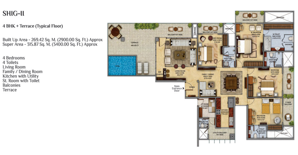 Mahagun Meadowsfloor plan