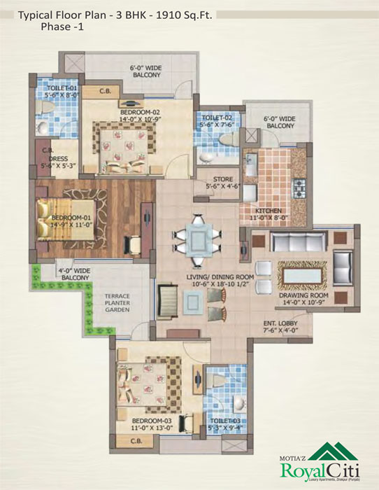Motiaz Royal Citifloor plan