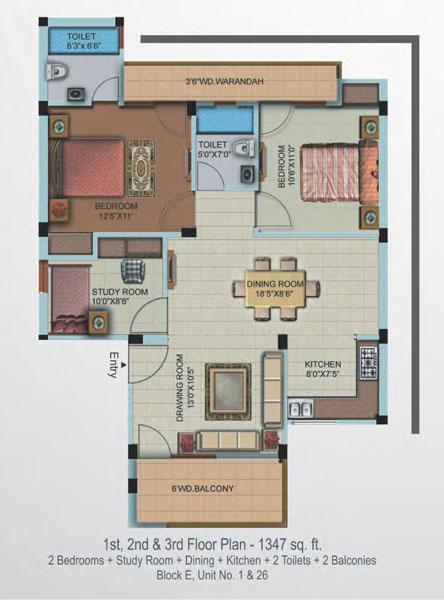 Supertech Oxford Squarefloor plan