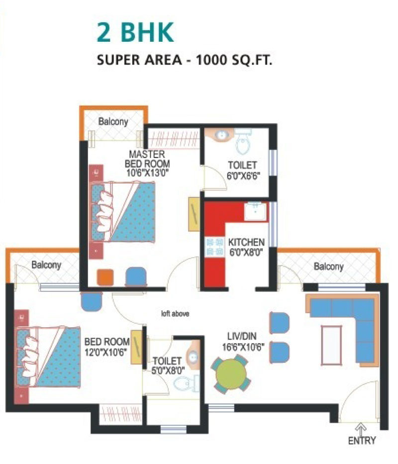 Express Park View -1floor plan