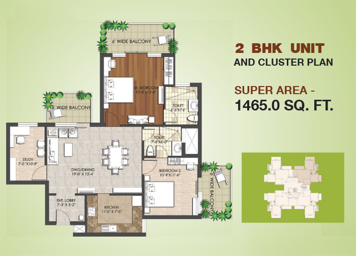 Spaze Privy AT 4floor plan