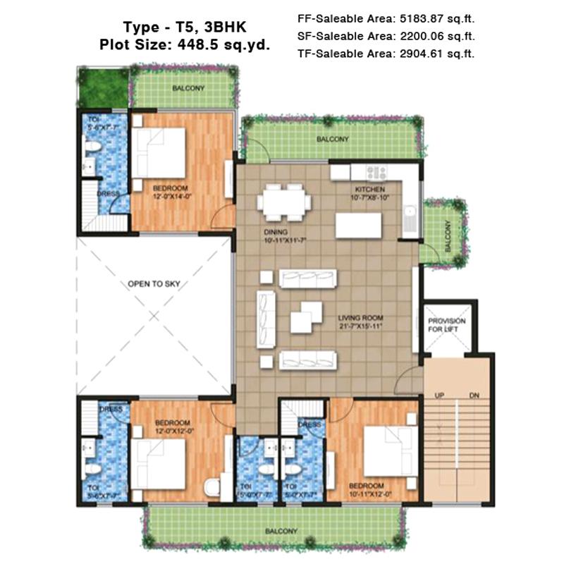 Raheja Ayanafloor plan