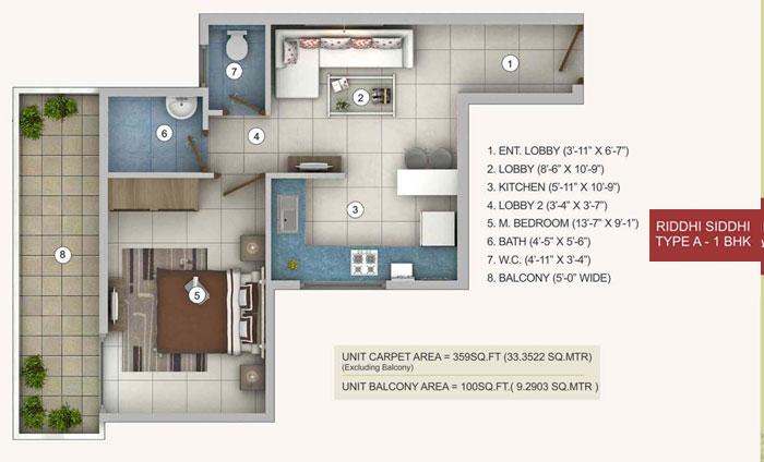 Riddhi Siddhi-Affordable Housingfloor plan