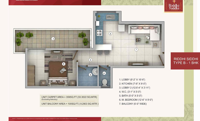 Riddhi Siddhi-Affordable Housingfloor plan