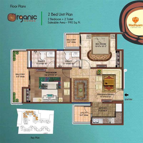 Organic Homes NH24 Ghaziabadfloor plan