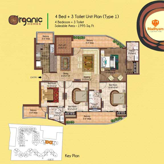 Organic Homes NH24 Ghaziabadfloor plan