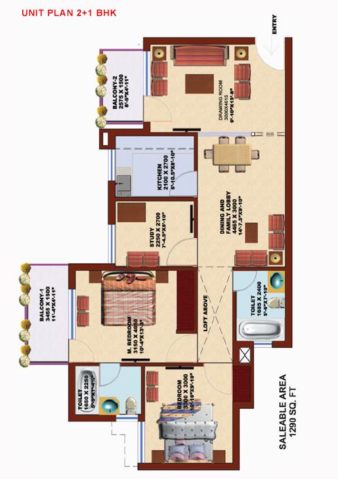 SRS Pearl Heightsfloor plan