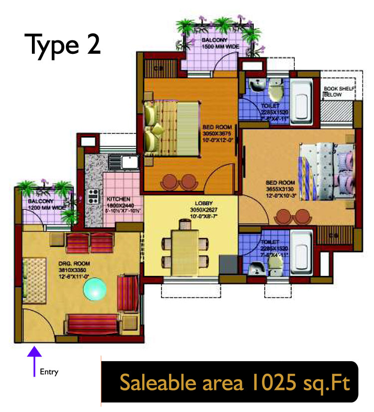 SRS Royal Hillsfloor plan