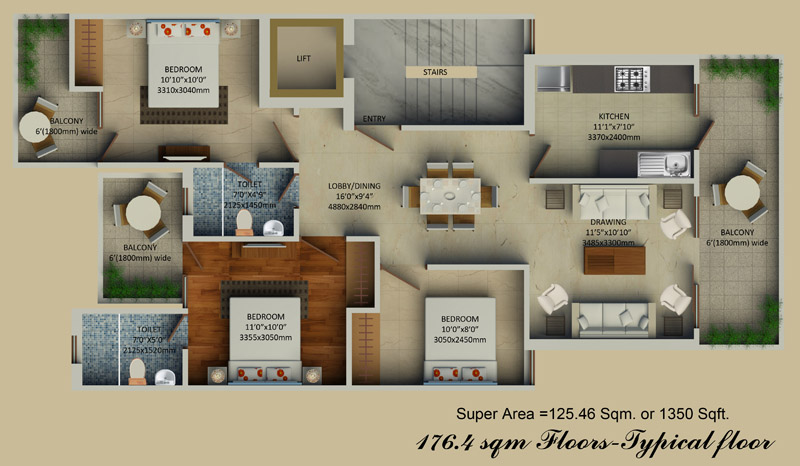 Supertech Hill Crestfloor plan