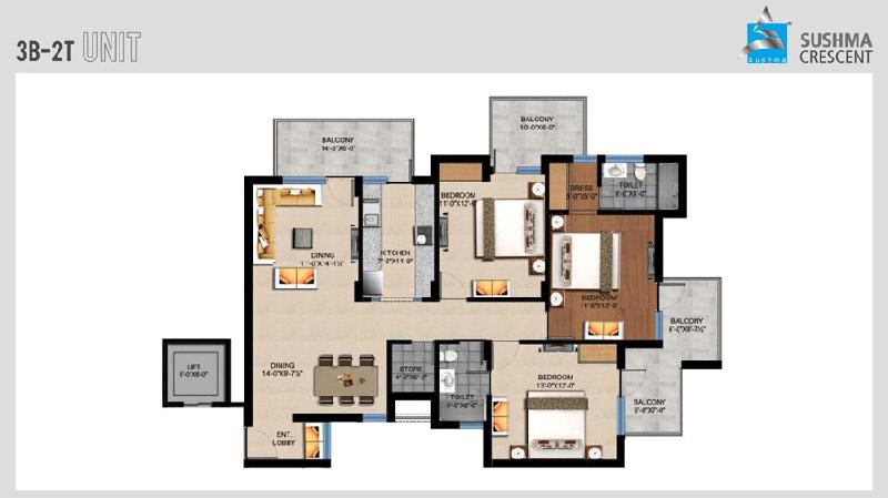 Sushma Crescentfloor plan