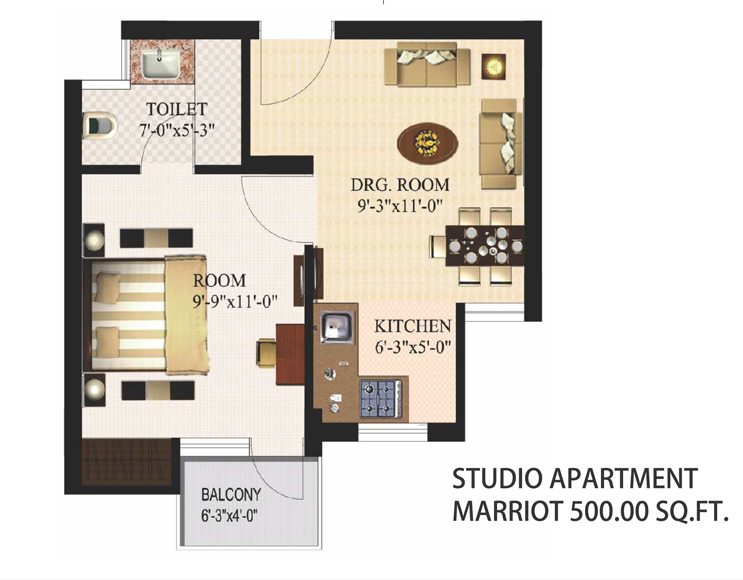 Studio Apartment In Noida urbtech xaviers in sector 168 noida, noida, residential apartments