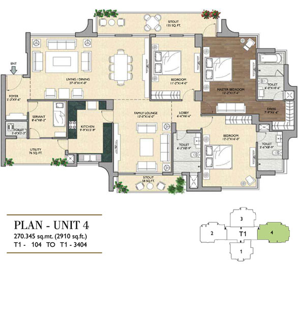 Vipul Aarohan Residencesfloor plan