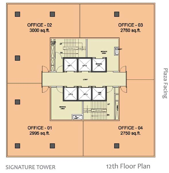 WTC Chandigarh, Aerocityfloor plan